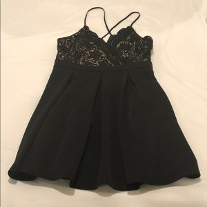 Francesaca's black dress with lace detail